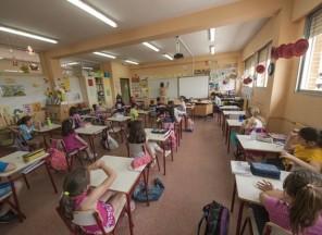 Aula de tercer ciclo de Educación Primaria en el Colegio Buero Vallejo de San Sebastián de los Reyes (Madrid)