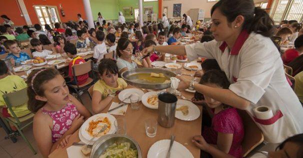 Menús saludables y nutritivos elaborados para los alumnos del colegio Buero Vallejo