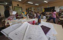 Aula de segundo ciclo de Educación Primaria en el Colegio Buero Vallejo de San Sebastián de los Reyes (Madrid)