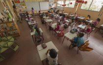 Alumnos de primer ciclo de Educación Primaria dando clase